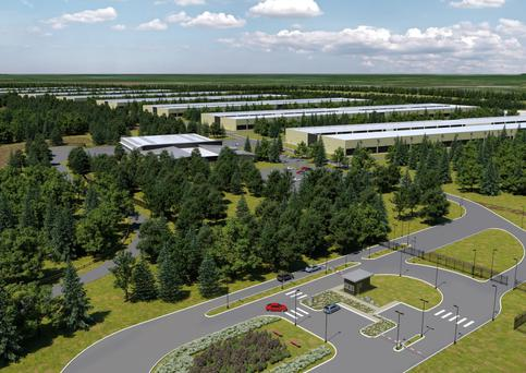 An artist's impression of the data centre planned for Athenry in Co Galway