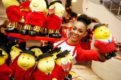 Louise Clarke, from Walkinstown in Dublin, at the Tayto pop-up shop in Arnotts department store, as it opens in the run-up to the festive season