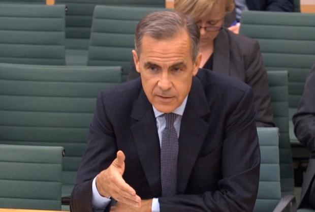 Governor of the Bank of England Mark Carney answers questions in the House of Commons. Photo: PA