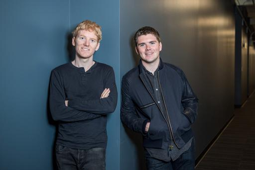 Patrick and John Collison of Stripe, who are also included in the Forbes Fintech 50 list