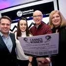 INM Group Advertising Director Karen Preston (right) with the winners of the trip to the Cannes Lions festival, Aisling Baker from Starcom and Brian Carolan from PHD