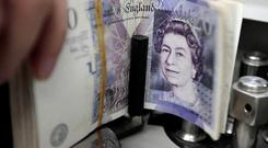 Sterling slumped in the wake of the Brexit vote in June. Photo: Reuters