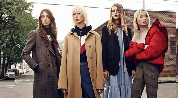 Models in some of the clothes from Zara's autumn/winter collection