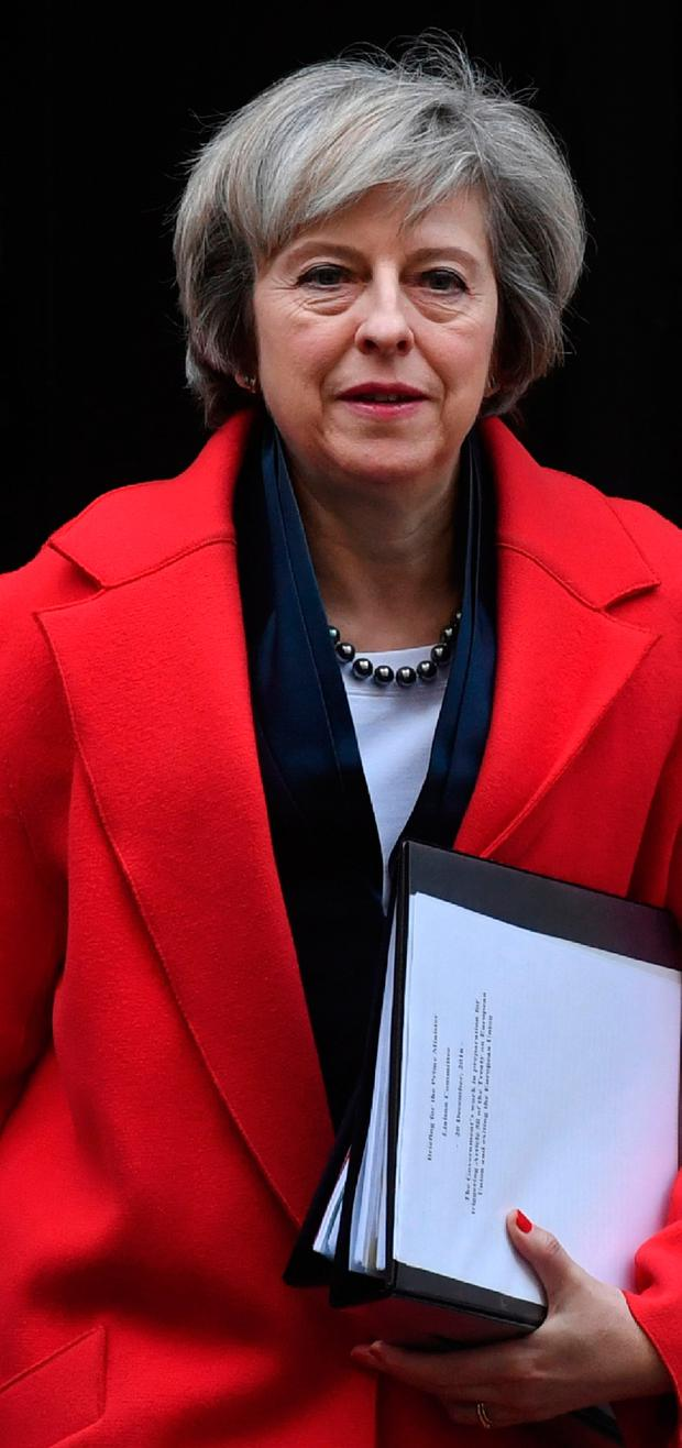 'Exchanges of letters between UK Prime Minister Theresa May and leaders in Northern Ireland demonstrate that they appreciate the unique nature of the all-island market' Photo: AFP/Getty