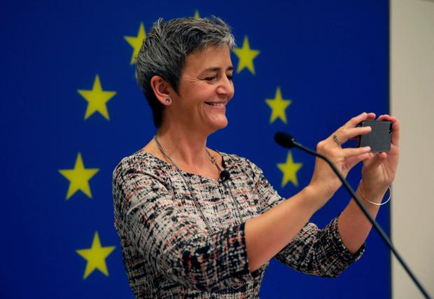 European Commissioner for Competition Margrethe Vestager was ciritical of the relationship between the Irish Government and Apple. Photo: Getty