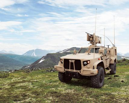 Oshkosh won the US military contract for an armoured truck