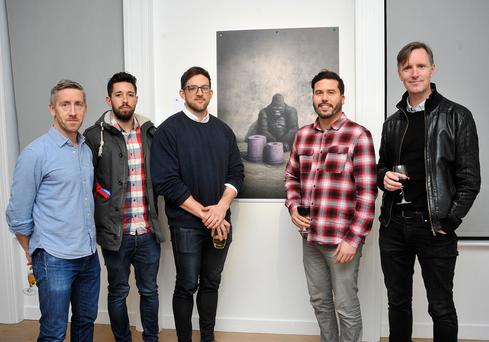 Pictured in the RHA at the TABS reception were Ronan Nulty, Peter Dobbyn and Neil Hanratty from Publicis, Leo Bartoli, DDFH&B, and Jimmy Murphy, Publicis
