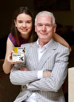 Elaine Lavery, co-founder, Improper Butter, and dad Conall Lavery, co-founder, Real World Retail. Photo: Adrian Weckler