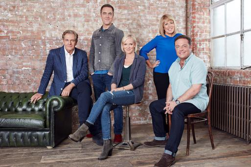 James Nesbitt, second from left, with the 'Cold Feet' cast