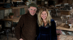 James Farrell and his wife Joanna at their restaurant, The Green Barn, in Athy, Co Kildare. Photo: Mark Condren