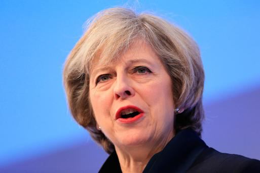 Theresa May outlined plans Picture: PA