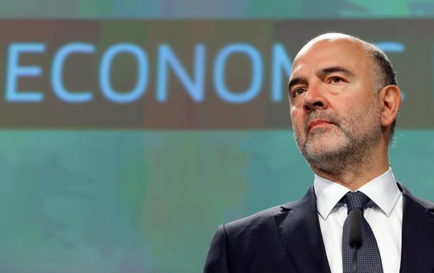 Reassurance: Pierre Moscovici. Photo: REUTERS
