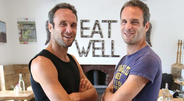 Dave, left, and Stephen Flynn inside their cafe and shop the Happy Pear, which is to open a flagship premises in Dublin