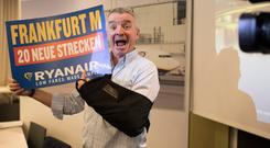Ryanair ceo Michael O'Leary announced plans to increase the carrier's Frankfurt routes to 24. Photo: Bloomberg