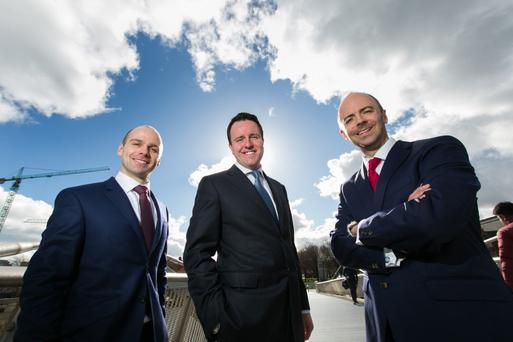 BDO fund investment director Anthony O'Driscoll, Blueface group CEO Alan Foy, BDO fund head of investments Andrew Bourg