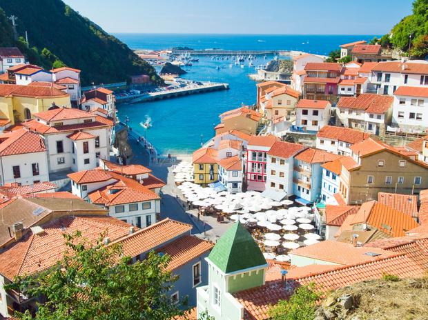 The town of Cudillero in Spain, a country which remains a hugely popular destination for Irish holidaymakers