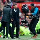 A Sky Sports cameraman at work during the Manchester United v Chelsea game last Sunday
