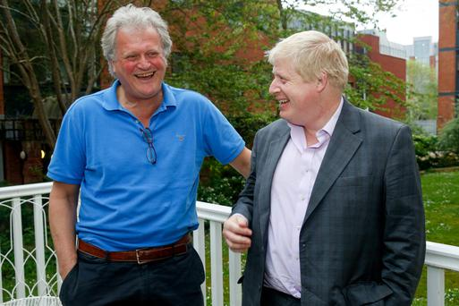 Tim Martin, chairman of JD Wetherspoon, and Boris Johnson Photo: Bloomberg