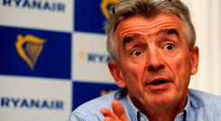 Ryanair boss Michael O'Leary. Photo: PA