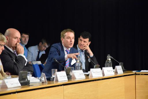 Secretary general of the Department of Public Expenditure and Reform Robert Watt, second from right, at the National Economic Dialogue. Photo: Department of Public Expenditure and Reform