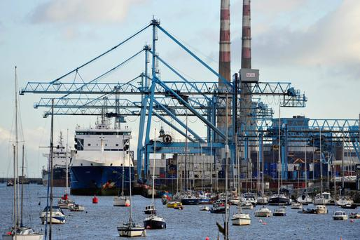 Ireland could have a record trade surplus this year. Photo: Bloomberg