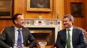 Leo Varadkar with Bank of America CEO Brian Moynihan