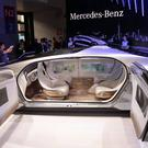 A driverless concept car from Mercedes on display in Shanghai. Photo: AFP/Getty Images