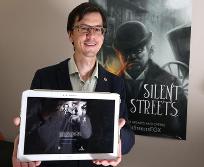 Demid Tishin, a software developer who lives and works in Maynooth. He's written a detective game called Silent Streets. Photo: Damien Eagers