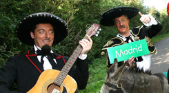 Breon Corcoran and Patrick Kennedy celebrate the launch of their Spanish-language betting website in 2007