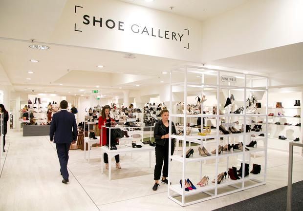 The new Shoe Gallery in the Dublin city store. Photo: Colm Mahady / Fennells