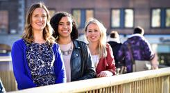 GirlCrew co-founders Pamela Newenham, Aine Mulloy and Elva Carri who are focused on growth in the United States