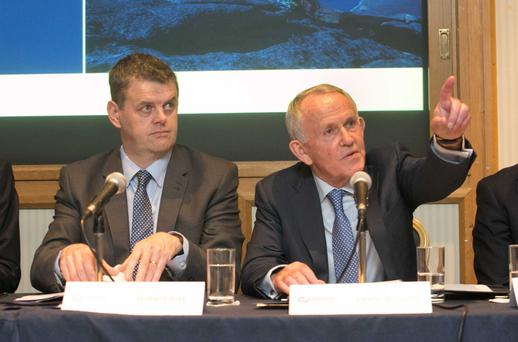 INM chief executive Robert Pitt and chairman Leslie Buckley are set for an eventful AGM after the ODCE was called into the boardroom. Photo: Gareth Chaney Collins