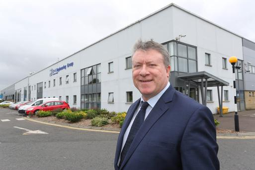 Philip O'Doherty at his company's Burnfoot headquarters, which employs 700. Photo: Lorcan Doherty