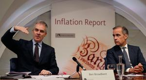 Bank of England Governor Mark Carney (right) and Deputy Governor for Monetary Policy Ben Broadbent. Mr Carney will be skipping a key summit of top central bankers in Jackson Hole this week, sending Mr Broadbent in his stead.