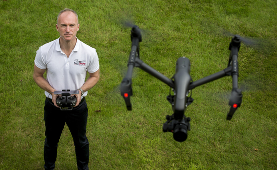 Safe Drone founder Mark Prendergast says companies are increasingly interested in the potential of drones. Picture: Mark Condren