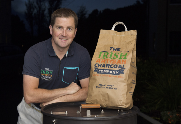 Colin O'Loan, the co-owner of the Irish Artisan Charcoal Company, says he is a fan of cooking outside all year round — despite the Irish weather. Photo: Andrew Downes/xposure