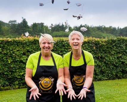Joanne Arbon and Clair Kelly who founded The Busy Botanist which launched herbal tea with a difference. Photo: Joe Keogh, Keogh Photography