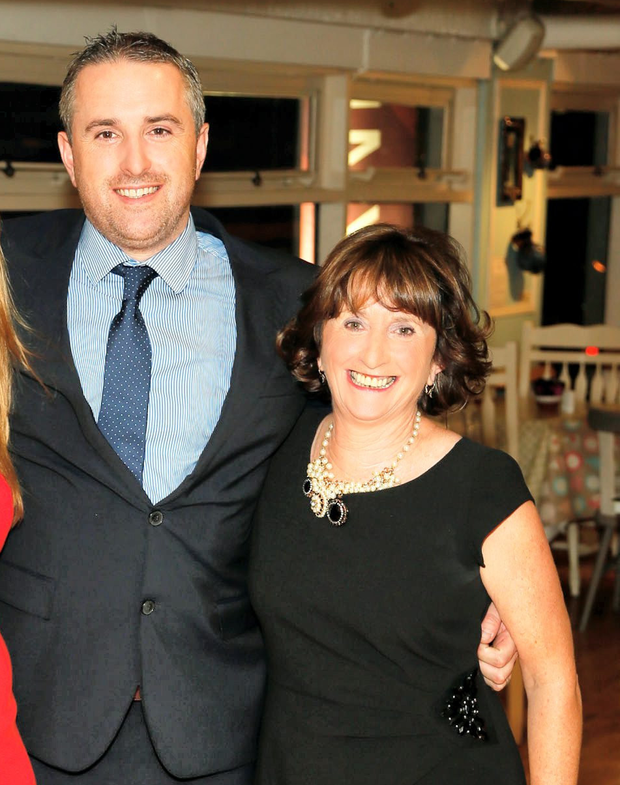 Greg O'Gorman and his mother Marian, chief executive of the Kilkenny Group