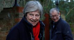 UK Prime Minister Theresa May's cabinet is divided
