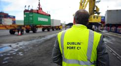 The 2pc increase in exports contributed to a trade surplus of €45bn.