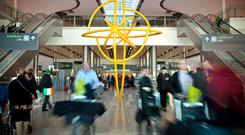 Dublin Airport. Stock image