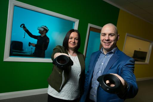 Sandra Whelan, COO, and David Whelan, CEO, Immersive VR Education. Photo: Shane O'Neill