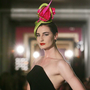 Supermodel Erin O'Connor wearing a Philip Treacy creation at Galway's G Hotel. The Irish fashion favourite's celebrity clients include Lady Gaga, Beyoncé and British royals. Photo: Photocall
