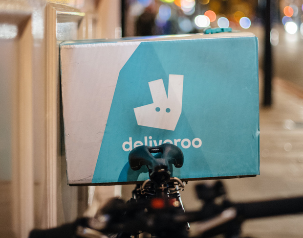 Deliveroo enables users to have food delivered to their homes from food companies that don't have a restaurant in their area (stock picture)