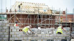 Tom Parlon, director general of the Construction Industry Federation, said the ability to hire workers within Ireland is limited and companies are now turning to the diaspora as a 'rich source of skilled labour' (stock photo)