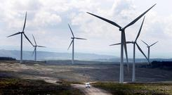 The outage resulted in wind farms being told to stop producing electricity at certain times as the power could not be exported to the UK. Stock image