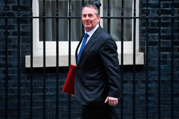 British International Trade Secretary Liam Fox. Photo: Bloomberg