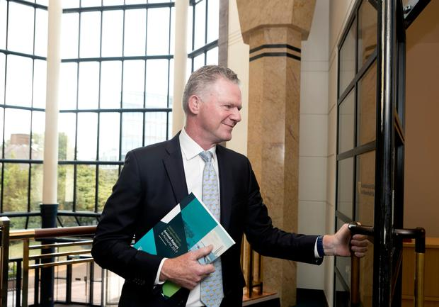 Conor O'Kelly, chief executive of the NTMA, at yesterday's release of its annual report. Photo: Iain White/Fennells