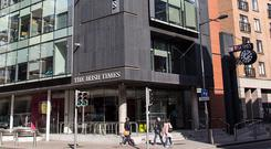 The Irish Times headquarters building on Tara Street, Dublin