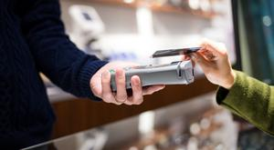 Contactless payments using debit cards are on the rise. Stock Image